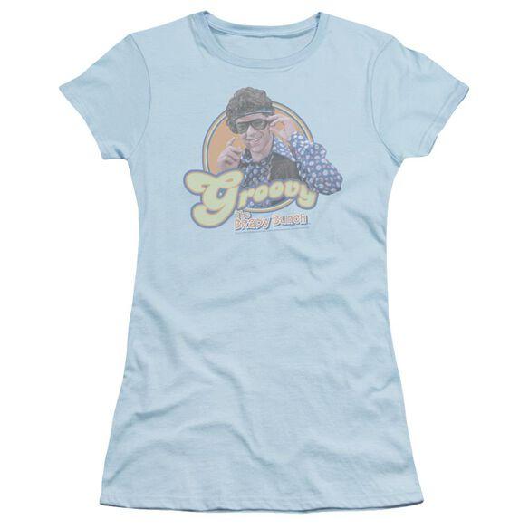 BRADY BUNCH GROOVY GREG - S/S JUNIOR SHEER - LIGHT BLUE T-Shirt
