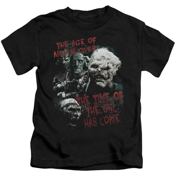 Lor Time Of The Orc Short Sleeve Juvenile Black T-Shirt