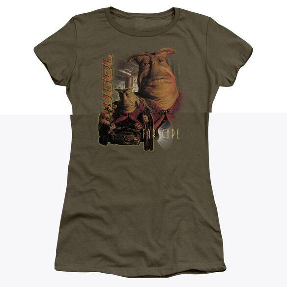 FARSCAPE RYGEL - S/S JUNIOR SHEER - MILITARY GREEN T-Shirt