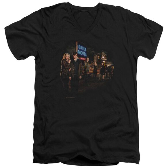 Bates Motel Cast Short Sleeve Adult V Neck T-Shirt