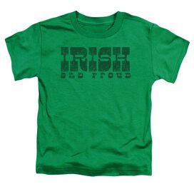 Irish And Proud Short Sleeve Toddler Tee Kelly Green T-Shirt