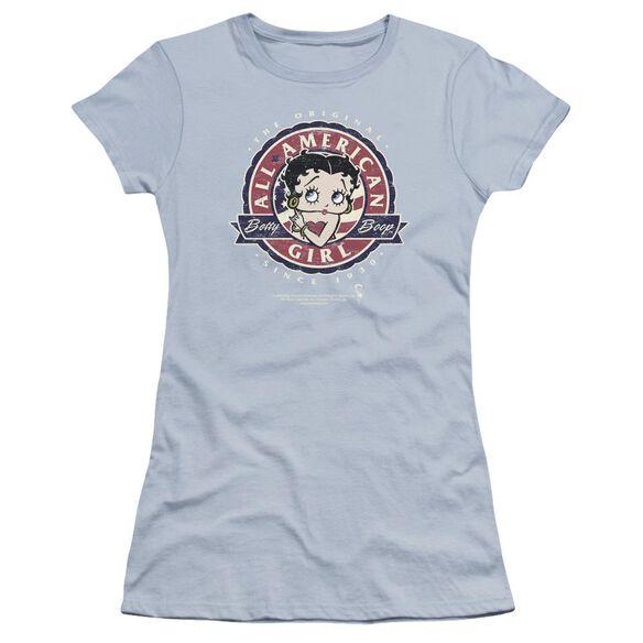 Betty Boop All American Girl Premium Bella Junior Sheer Jersey Light