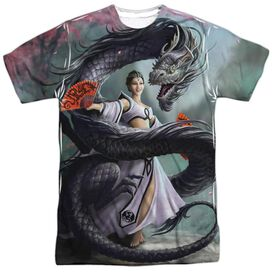 Anne Stokes Dragon Dancer Short Sleeve Adult Poly Crew T-Shirt
