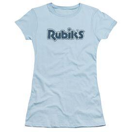 Rubik's Cube Rough Logo Short Sleeve Junior Sheer Light T-Shirt