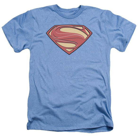 Man Of Steel New Solid Shield Adult Heather Light