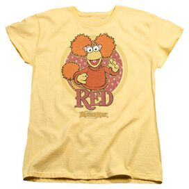 Fraggle Rock Red Circle Short Sleeve Womens Tee T-Shirt