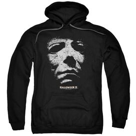 Halloween Ii Mask Adult Pull Over Hoodie Black