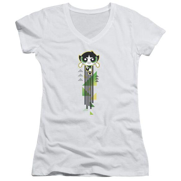 Powerpuff Girls Buttercup Streak Junior V Neck T-Shirt