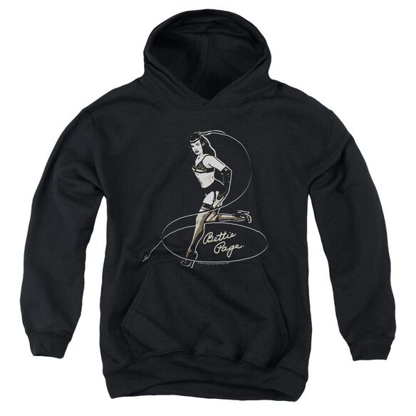 Bettie Page Whip It! Youth Pull Over Hoodie