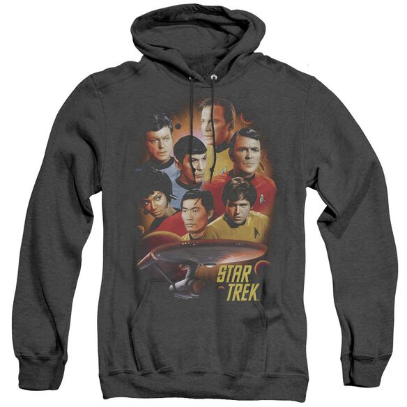 Star Trek Heart Of The Enterprise - Adult Heather Hoodie - Black