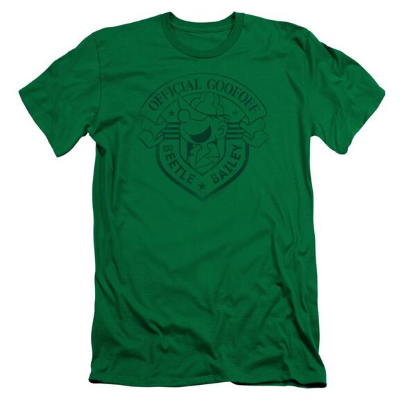 Beetle Bailey Official Badge Short Sleeve Adult Kelly T-Shirt