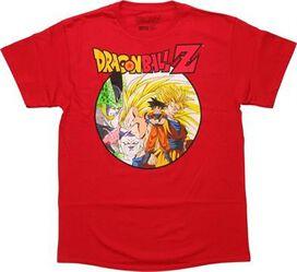 Dragon Ball Z Goku Cell Frieza and Buu T-Shirt