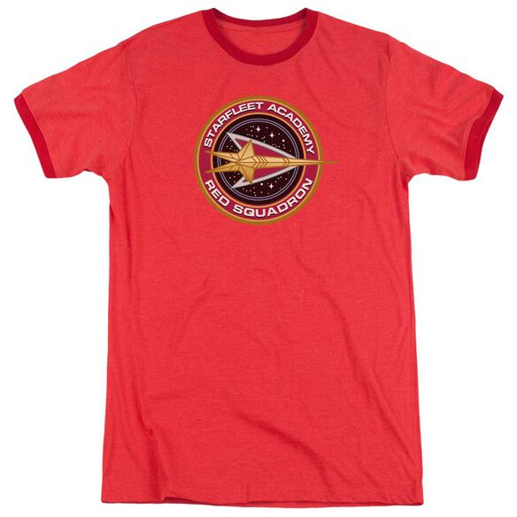 Star Trek Red Squadron Adult Heather Ringer Red