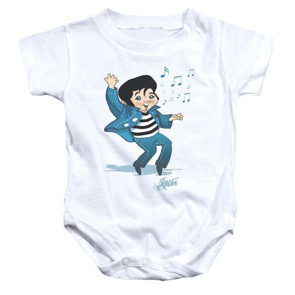 Elvis Lil Jailbird Infant Snapsuit White Sm