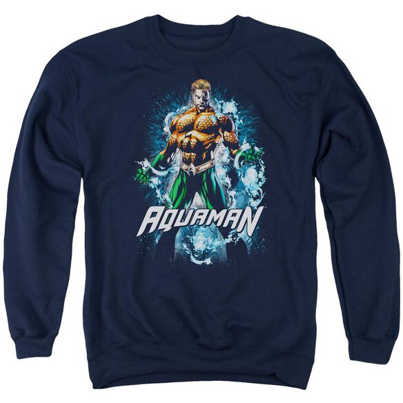 Jla Water Powers Adult Crewneck Sweatshirt