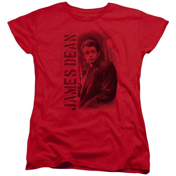 Dean Trenchcoat Short Sleeve Womens Tee Red T-Shirt