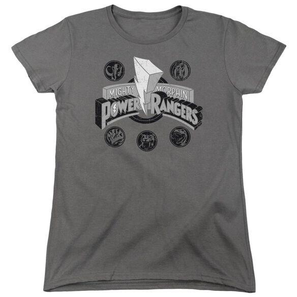 Power Rangers Power Coins Short Sleeve Womens Tee T-Shirt