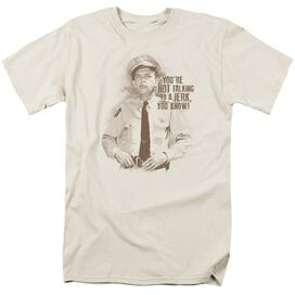 Andy Griffith No Jerk Short Sleeve Adult Cream T-Shirt