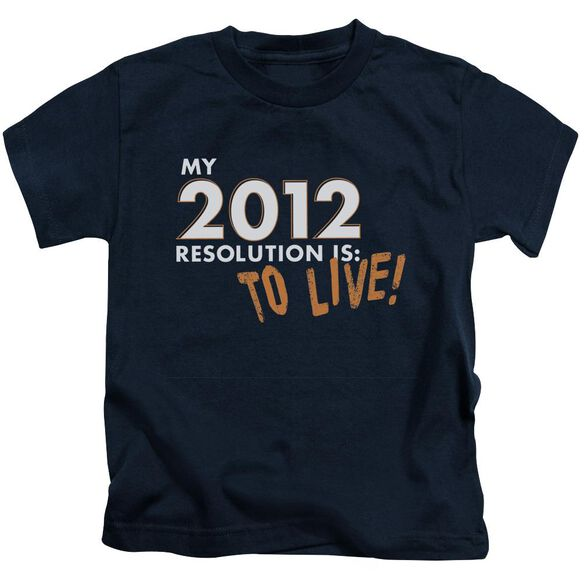 To Live! Short Sleeve Juvenile Navy T-Shirt