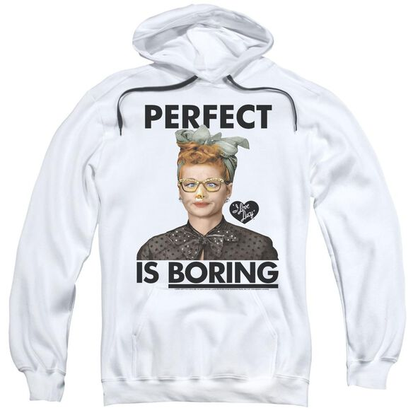 I Love Lucy Perfect Is Boring Adult Pull Over Hoodie