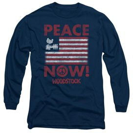 Woodstock Peace Now Long Sleeve Adult T-Shirt