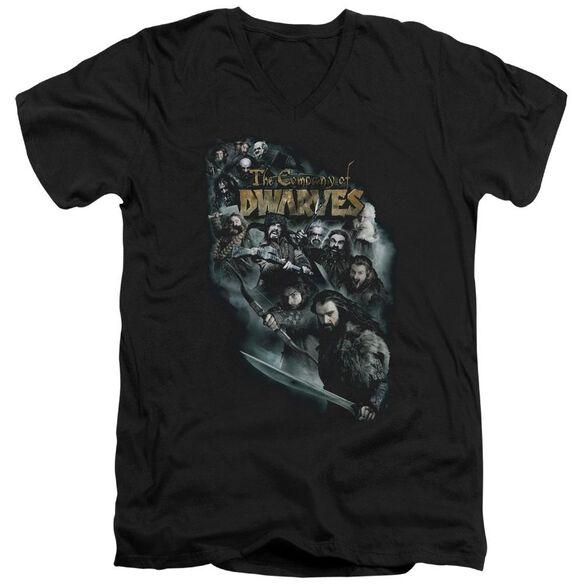The Hobbit Company Of Dwarves Short Sleeve Adult V Neck T-Shirt