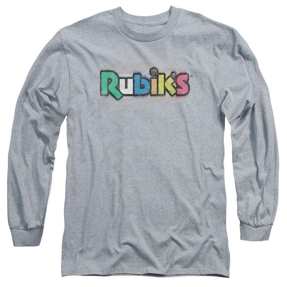 Rubiks Cube Old School Print Long Sleeve Adult Athletic T-Shirt