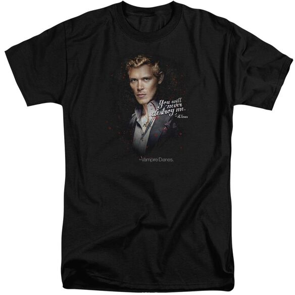 Vampire Diaries Never Destroy Short Sleeve Adult Tall T-Shirt