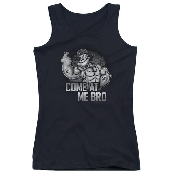 Popeye Come At Me Juniors Tank Top