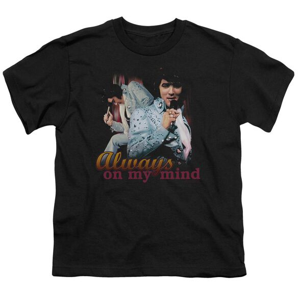 Elvis Always On My Mind Short Sleeve Youth T-Shirt