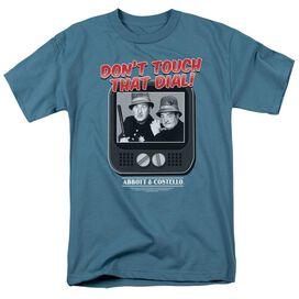 Abbott & Costello That Dial Short Sleeve Adult Slate T-Shirt