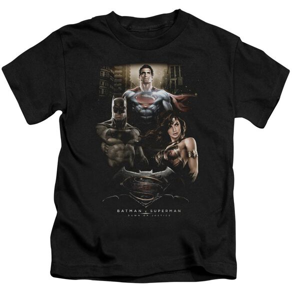 Batman V Superman Thre Three Short Sleeve Juvenile Black T-Shirt