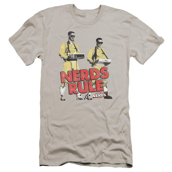 Revenge Of The Nerds Nerds Rule Premuim Canvas Adult Slim Fit