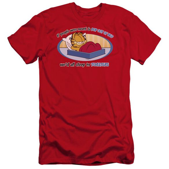 Garfield Pop Out Of Bed Premuim Canvas Adult Slim Fit