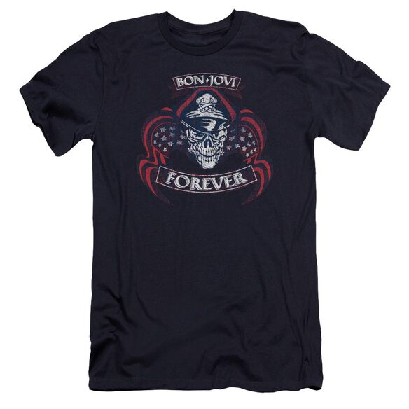 Bon Jovi Forever Skull Premuim Canvas Adult Slim Fit