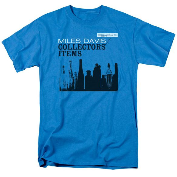 Miles Davis Collectors Items Short Sleeve Adult Turquoise T-Shirt