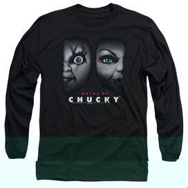 BRIDE OF CHUCKY HAPPY COUPLE - L/S ADULT 18/1 - BLACK - SM - BLACK T-Shirt