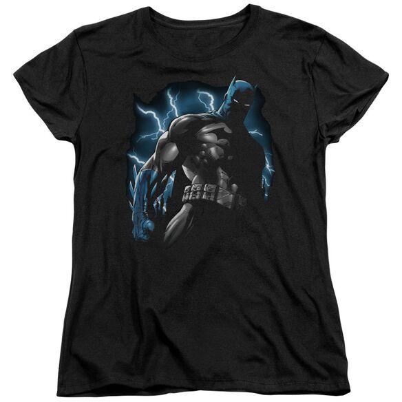 Batman Gotham Lightning Short Sleeve Womens Tee T-Shirt