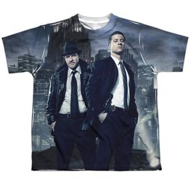 Gotham City Nights Short Sleeve Youth Poly Crew T-Shirt