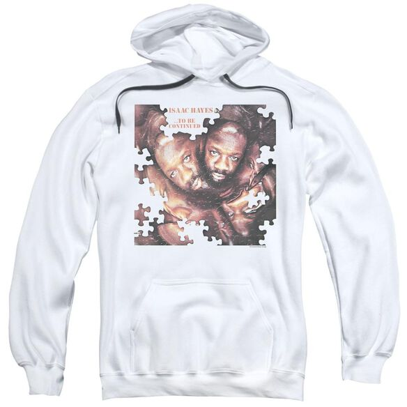 Isaac Hayes To Be Continued - Adult Pull - Over Hoodie - White