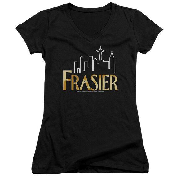 Frasier Frasier Logo Junior V Neck T-Shirt