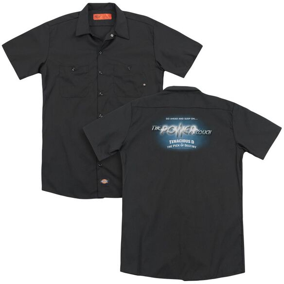 Pick Of Destiny Power Couch (Back Print) Adult Work Shirt