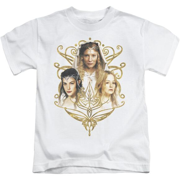 Lor Women Of Middle Earth Short Sleeve Juvenile White T-Shirt