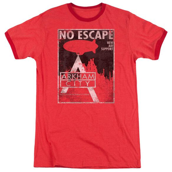 Arkham City No Escape Adult Heather Ringer Red