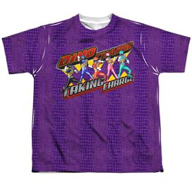 Power Rangers Taking Charge Short Sleeve Youth Poly Crew T-Shirt