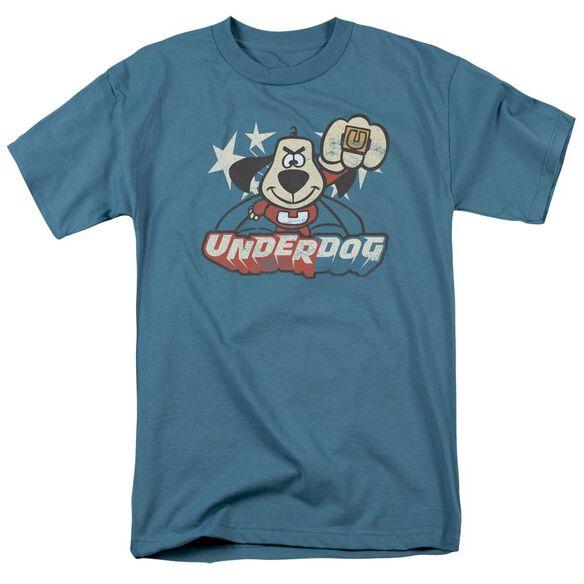 Underdog Flying Logo Short Sleeve Adult Slate T-Shirt