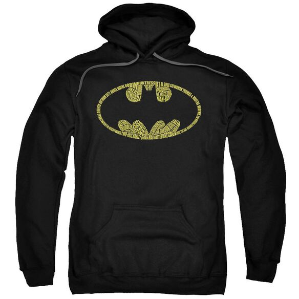 Batman Word Logo Adult Pull Over Hoodie