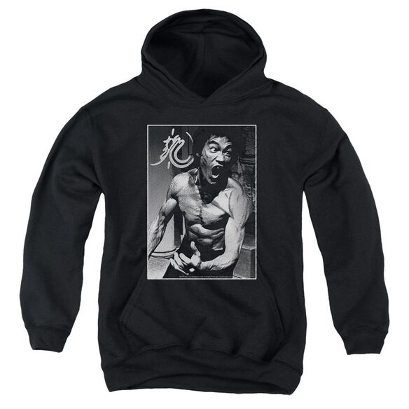 Bruce Lee Focused Rage Youth Pull Over Hoodie