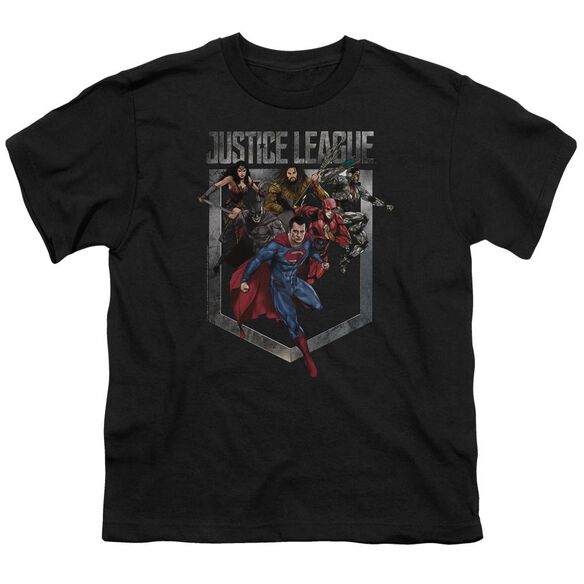 Justice League Movie Charge Short Sleeve Youth T-Shirt