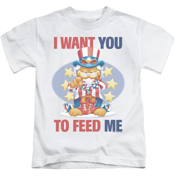 GARFIELD I WANT YOU - S/S JUVENILE 18/1 - WHITE - T-Shirt